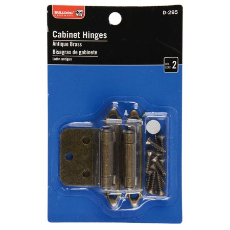- Bulldog Hardware Cabinet Hinges, Antique Brass