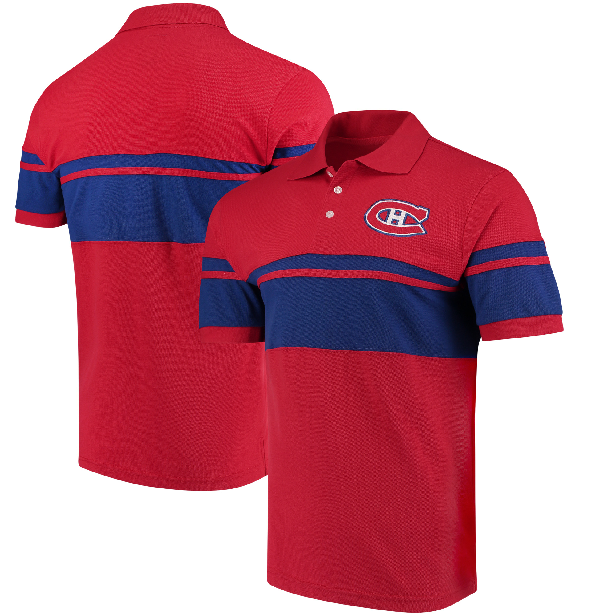 Montreal Canadiens Stripe Polo - Red