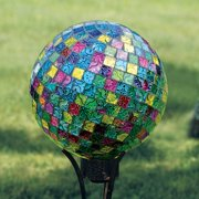 Carson Home Accents 10 in. Mosaic Jeweled Hues - Gazing Ball