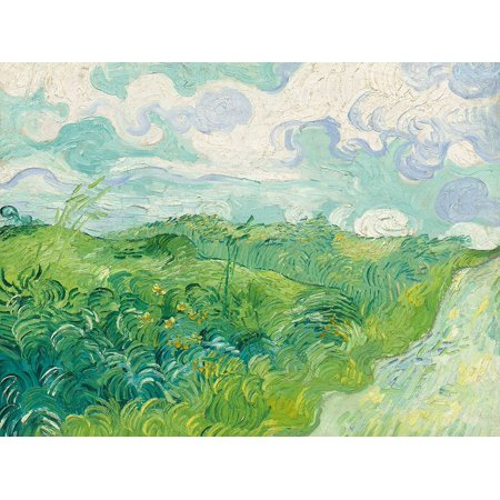 Green Wheat Fields Auvers Poster Print by van Gogh Vincent Auvers Poster Print