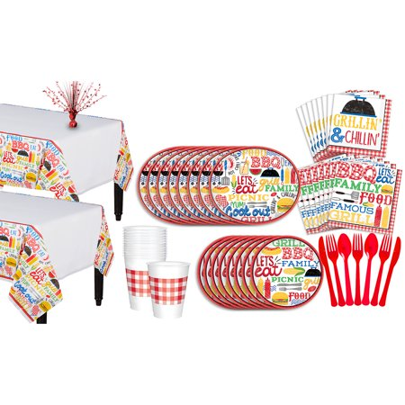 Party City BBQ Picnic Party Pack for 18 Guests, 196 Pieces, With Centerpiece](Roseville Party City)