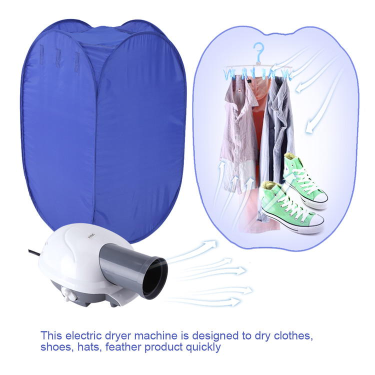 Walfront Electric Portable Clothes Dryer   Laundry Drying Rack With High  Powered Heater And Germ Killing