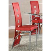 A Line Furniture Dafny Chic Chrome Dining Chairs (Set of 2)