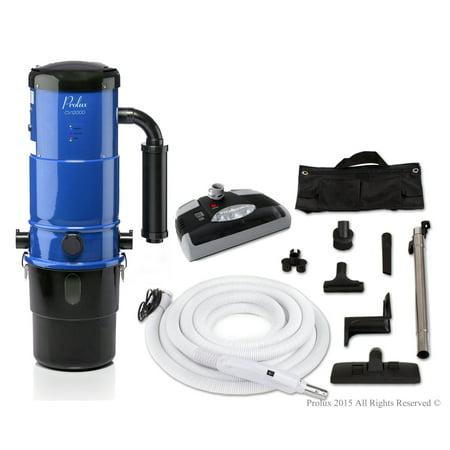 ProLux Central Vacuum Unit System with Electric Hose Power Nozzle Kit