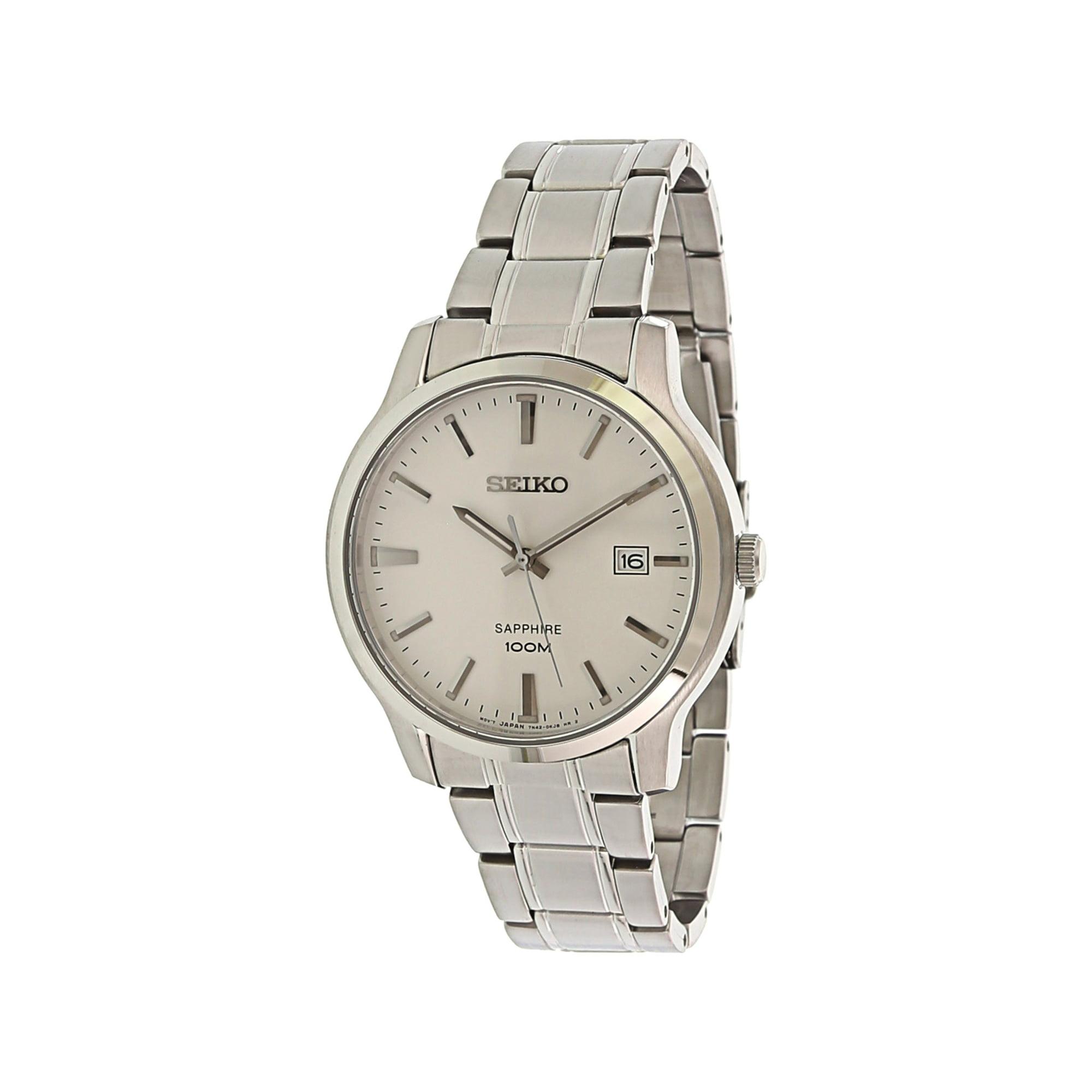 78a3c8cb327 Seiko Men's Neo Classic SGEH39 Silver Stainless-Steel Japanese Quartz  Fashion Watch | Walmart Canada