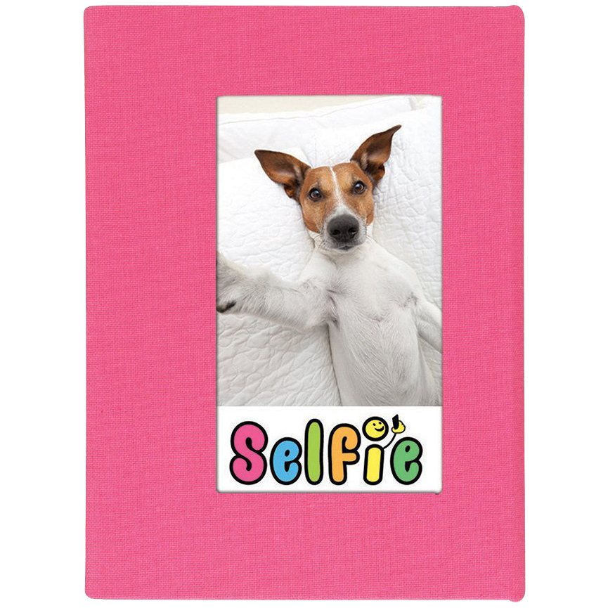 "Selfie 2.25"" x 3.5"" Photo Album - Holds 20 Photos (Pink) for Polaroid PIF-300 Instant & Fuji Instax Mini Film"