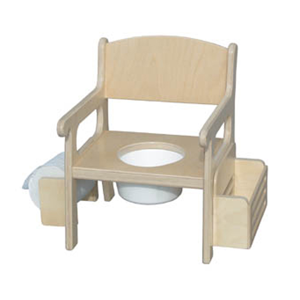 Little Colorado Traditional Toddler Potty Training Chair with Accessories Natural Laquer