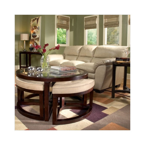 Magnussen Furniture Juniper Round Coffee Table Set