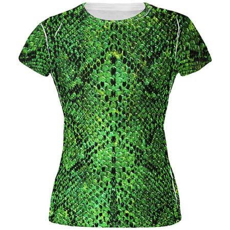 Halloween Green Snake Snakeskin Costume All Over Juniors T