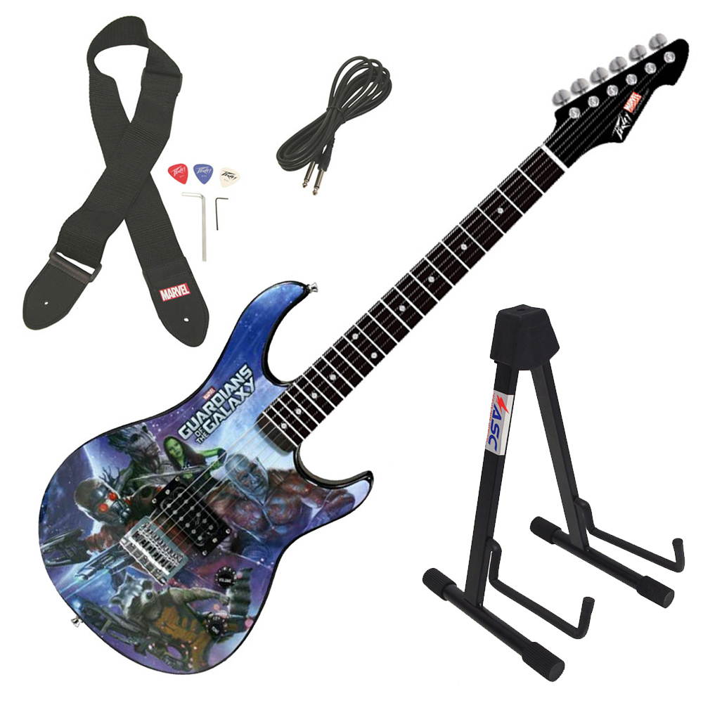 Peavey Rockmaster Full Marvel Guardians Of The Galaxy Electric Guitar & Stand