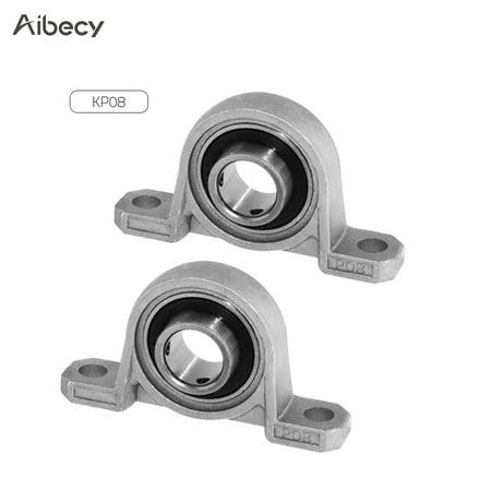 Aibecy KP08 Bore Diameter 8mm Ball Bearing Pillow Block Self-aligning Bearing Mounted Block 3D Printer Accessory Kit Pack of 2pcs