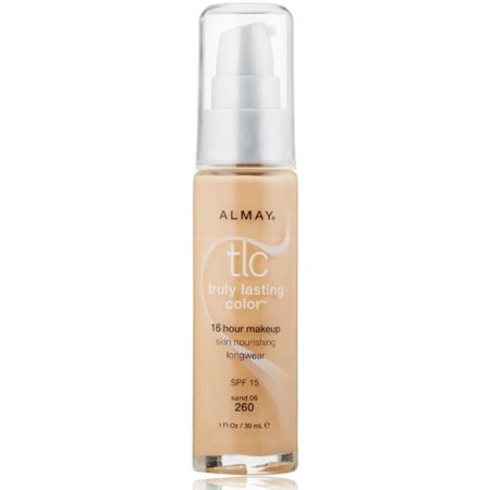Almay TLC Truly Lasting Color 16 Hour Makeup, Sand 06 [260] 1 oz Almay Truly Lasting Makeup