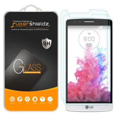 [2-Pack] Supershieldz for LG G3 Tempered Glass Screen Protector, Anti-Scratch, Anti-Fingerprint, Bubble Free ()