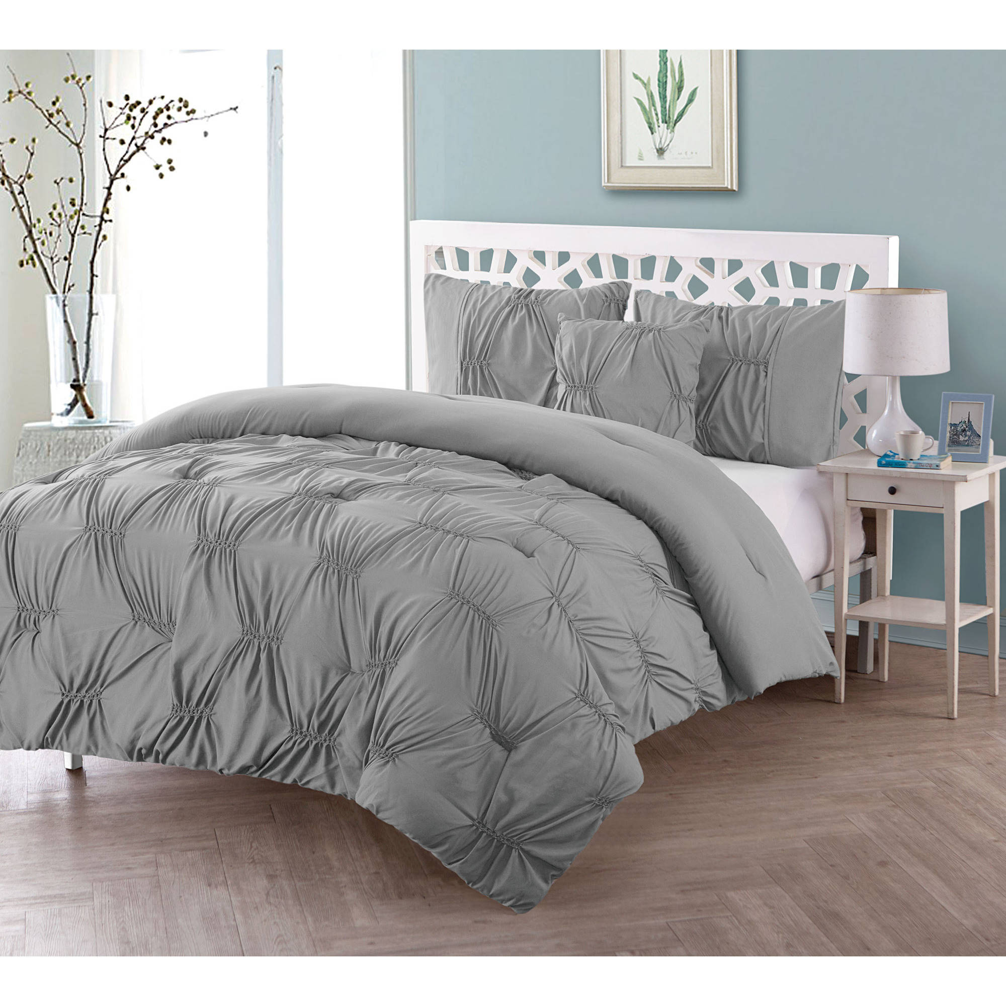 VCNY Monica Solid Textured Comforter Set, Multiple Colors Available
