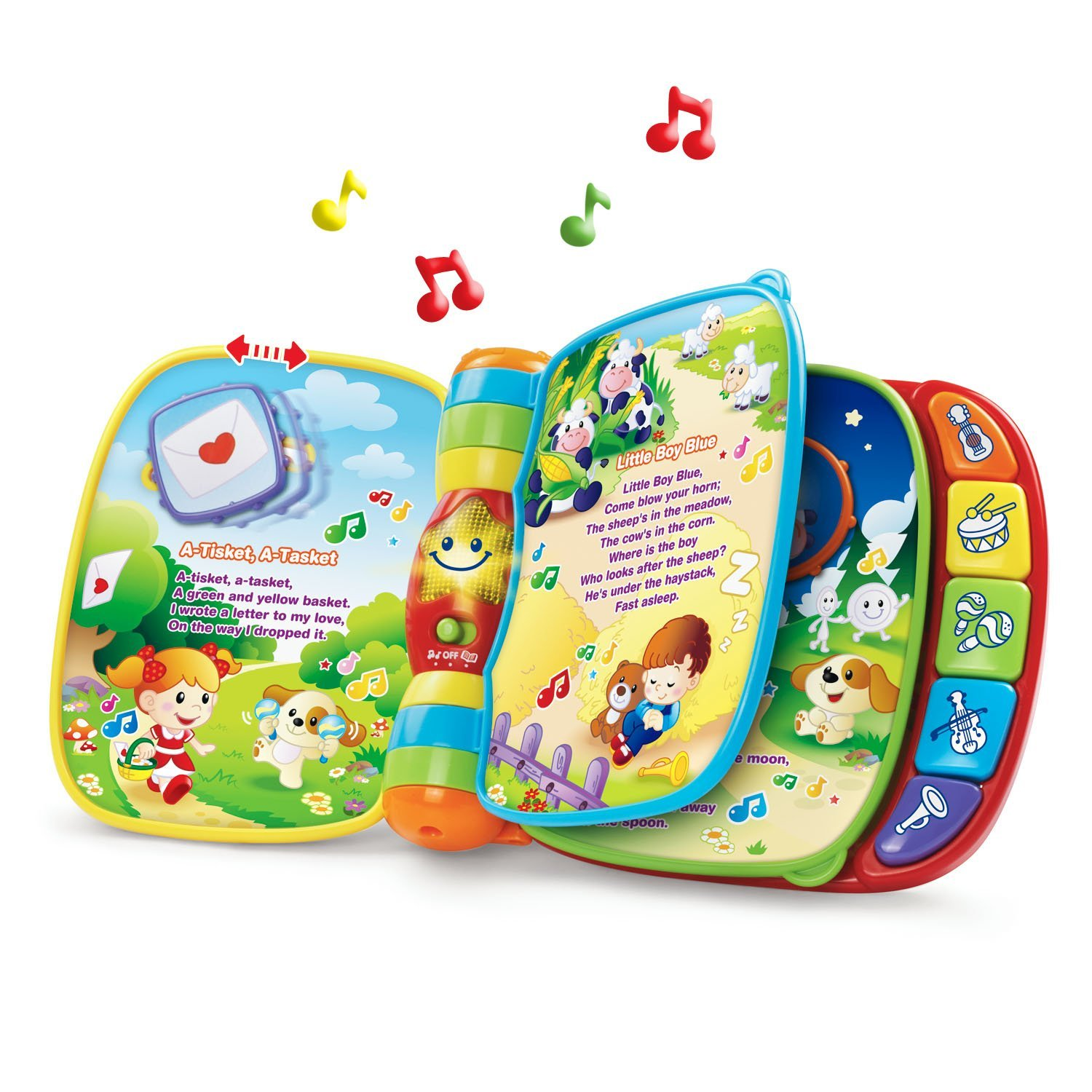 VTech Musical Rhymes Book, Learn 40+ Songs, Nursery Rhymes, New! by