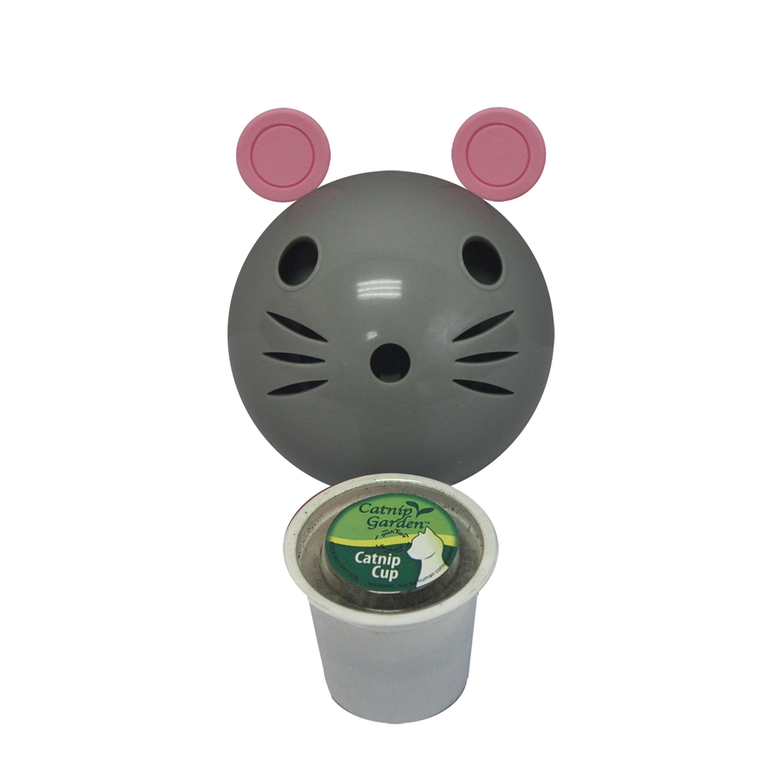 """Catnip Garden Kitty Sprinkles MOUSE (Dispenser + K-Cup) 4"""" by Multipet International"""