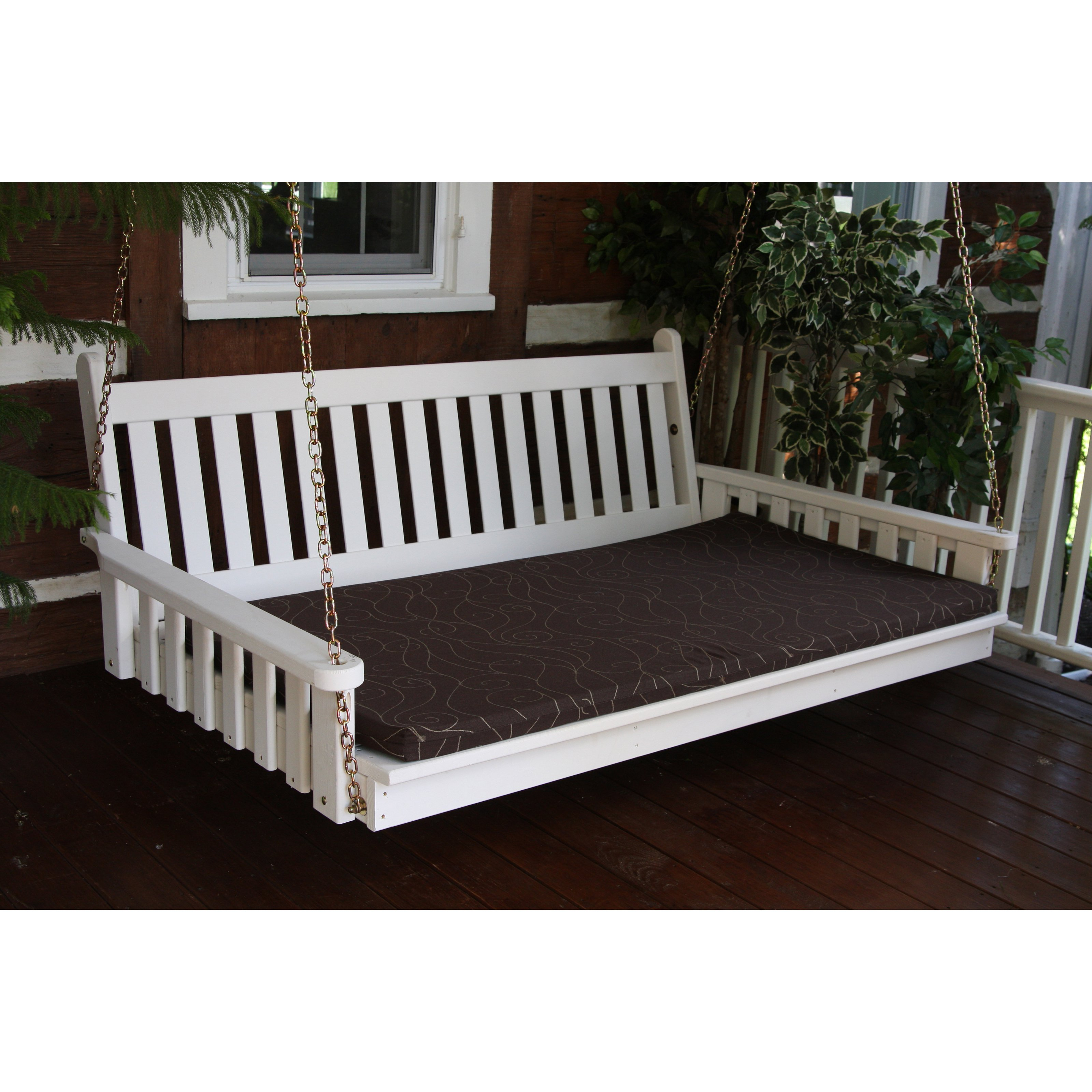 A & L Furniture Sundown Agora 5 ft. Swing Bed Cushion - 2 in. Thickness - 55W x 34D in.