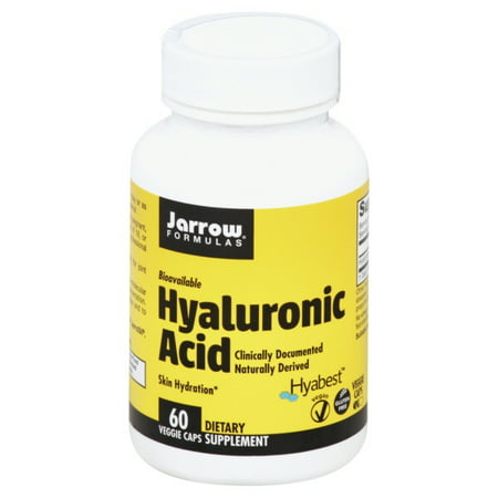 Jarrow Formulas Hyaluronic Acid, Promotes Skin Hydration and Healthy Joints, 60 Capsules Breast Healthy Joints Formula