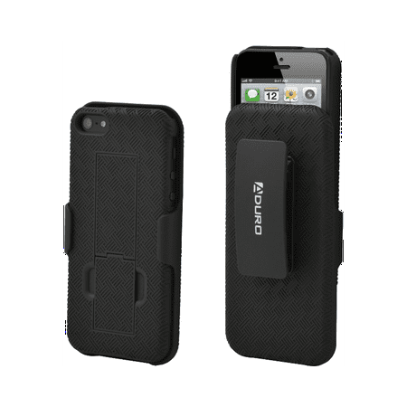 Aduro Shell Holster Combo Case For Iphone 5 5S   Black