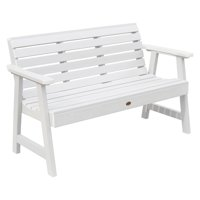 highwood® Weatherly Recycled Plastic Bench with Back