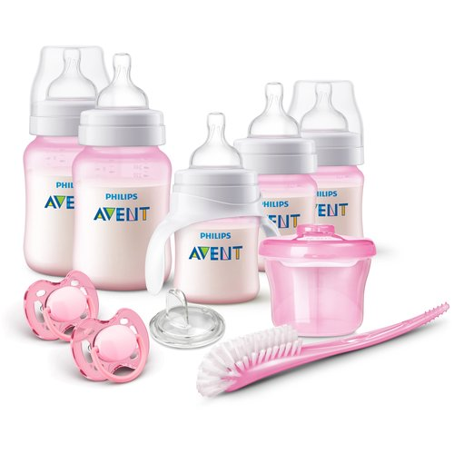 Philips Avent Anti-Colic Baby Bottle Newborn Starter Set, Pink, BPA-Free by Philips AVENT