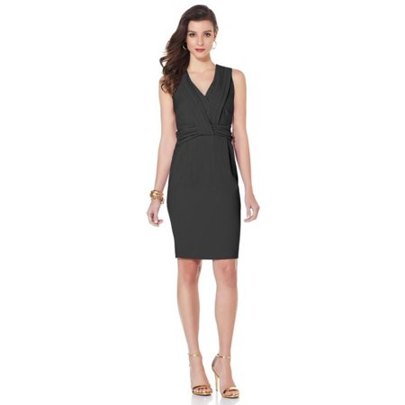 IMAN Platinum Slvless Knot Dress 390-867 ()