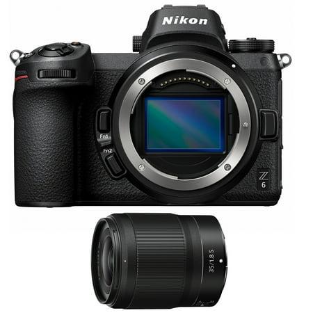 Nikon 1595 Z6 24.5MP FX-format 4K Mirrorless Camera Body Bundle with NIKKOR Z 35mm f/1.8 S Z Mount System Mirrorless Wide Angle Prime Lens