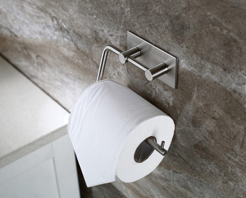 TOGU Self-Adhesive Toilet Paper Holder SUS 304 Stainless Steel Rustproof Storage Bathroom Kitchen Paper Towel Dispenser... by