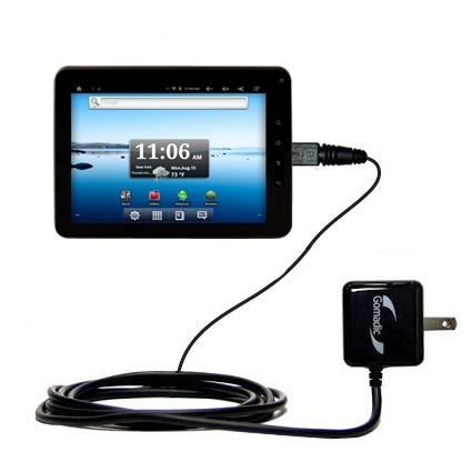 Gomadic Intelligent Compact AC Home Wall Charger suitable for the Nextbook Premium8 Tablet - High output power with a convenient, foldable plug design