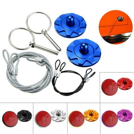 Hai Flush Mount Kit (2x Universal Racing Car Bonnet Plus Flush Mount Hood Latch Pin Key Locking Kit 6)