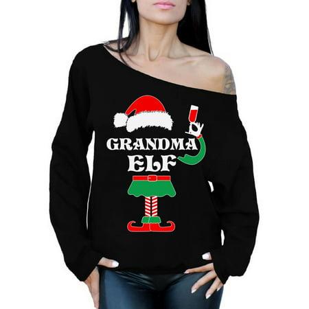 31b47d8373d9 Awkward Styles - Awkward Styles Grandma Elf Christmas Sweatshirt Elf ...