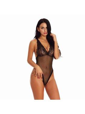 3792a1984 Product Image Akoyovwerve Women Sexy Lace Lingerie Babydoll See-Through  Sleepwear Underwear Nightwear Dress Set