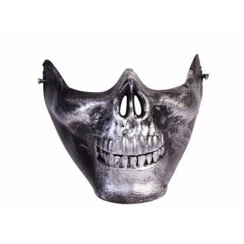 MASK-LOWER FACE SKULL-SILVER - Skull Maks