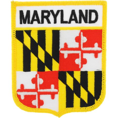 Maryland State Flag Shield Patch 2 7/8