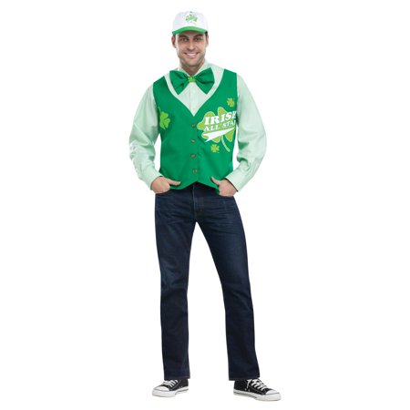 St. Patrick's Day All Star Deluxe Vest Hat and Tie Set - (St David's Day Costume Boys)