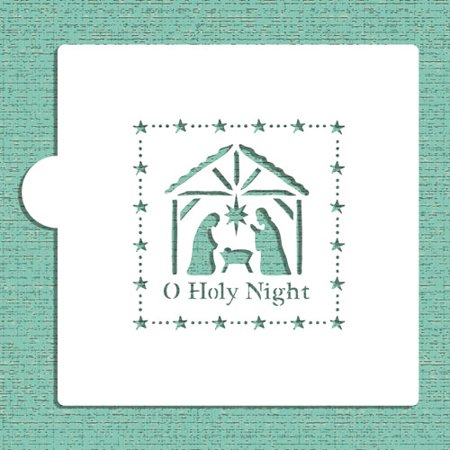 Designer Stencils O Holy Night Nativity Scene Cookie and Craft Stencil CM034](Halloween Jack O Lantern Stencils)