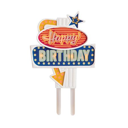 Flashing Led Food Topper - Birthday - Great for Celebrations or Parties (Birthday Direct Coupon)