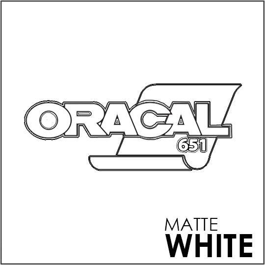 ORACAL 651 Vinyl Roll of Matte White - Includes Free Multi-Purpose Squeegee - Choose Your Size