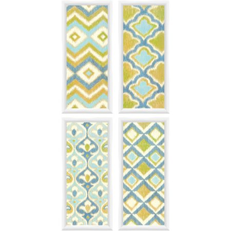 Global Green and Blue Wall Art, Set of 4