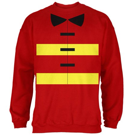 Halloween Fireman Costume Red Adult Sweatshirt