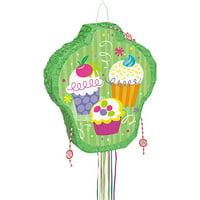Cupcake Pinata, Pull String, 20 x 18in