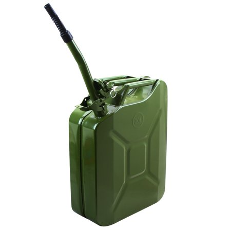 5Gal Jerry Can Gas Fuel Steel Tank Nato Style  Green Military