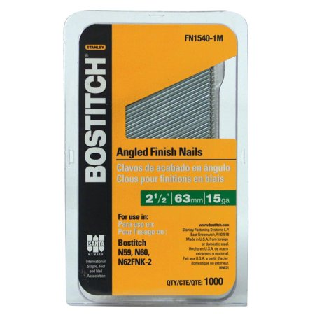 Bostitch FN1540 1M 2 1 2 In 15 Gauge Angled Finish Nail