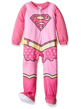 02905bf6d Product Image DC Comics Baby Girls' Supergirl Footed Sleeper with Cape