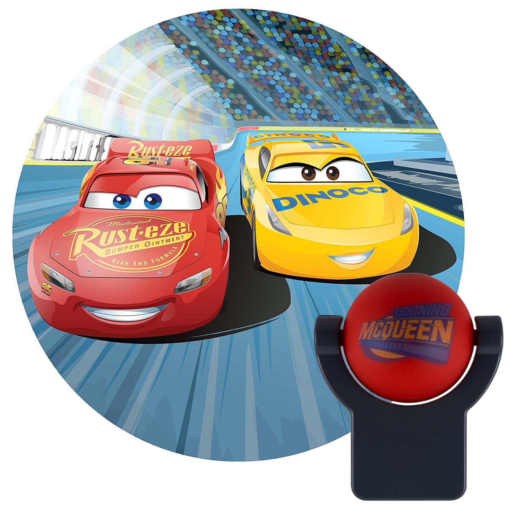 Projectables Disney/Pixar Cars LED Plug-In Night Light, Lightning McQueen and Cruz Ramirez Image, 11742