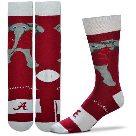 Alabama Crimson Tide For Bare Feet Youth Mascot Flag Crew Socks - No Size ()