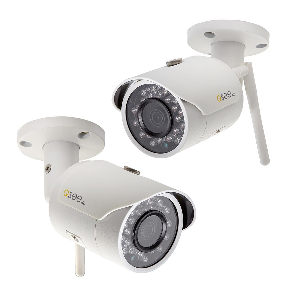 Q-See 2PK 3MP Bullet Wi-Fi Camera with 16GB Micro SD Cards