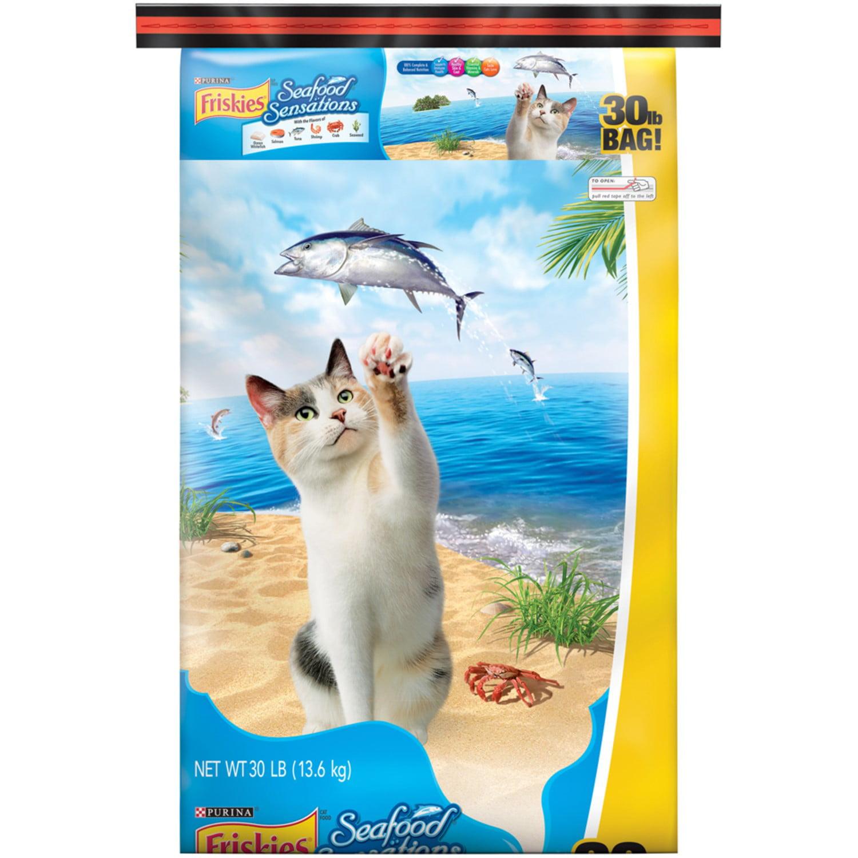 Friskies Dry Cat Food; Seafood Sensations - 30 lb. Bag