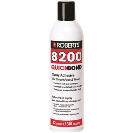 Roberts 8200 Roberts Quick Bond Spray Adhesive For Carpet Pads 12 Oz