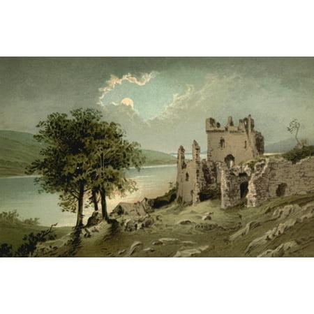 T Nelson   Sons Souvenir Of Scotland 1897 Loch Ness Urquhart Castle Canvas Art   T Nelson   Sons  18 X 24